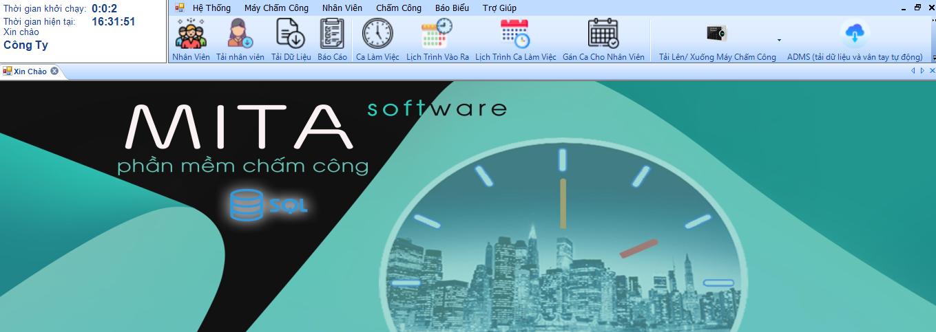 Phần mềm chấm công mitapro V3 2021