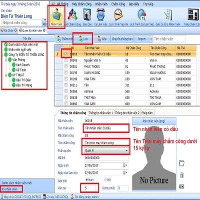 Hướng dẫn chỉnh sửa thông tin nhân viên trên phần mềm mita pro